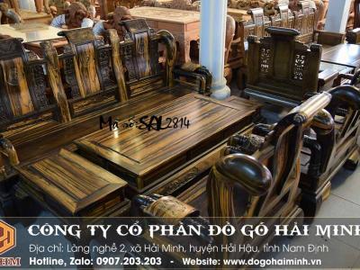 bộ bàn ghế tần thủy hoàng gỗ mun lào