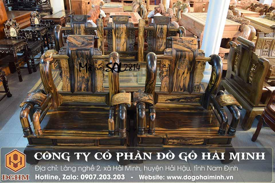 bộ bàn ghế tần gỗ mun Lào