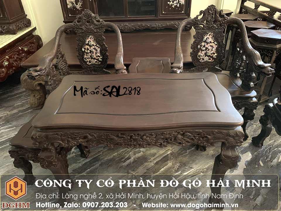 bàn ghế minh rồng đế vương