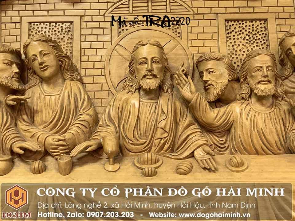 tranh gỗ pơ mu đục 12 tông đồ và jesu