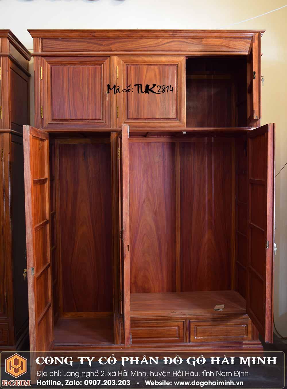 tủ áo gỗ hương