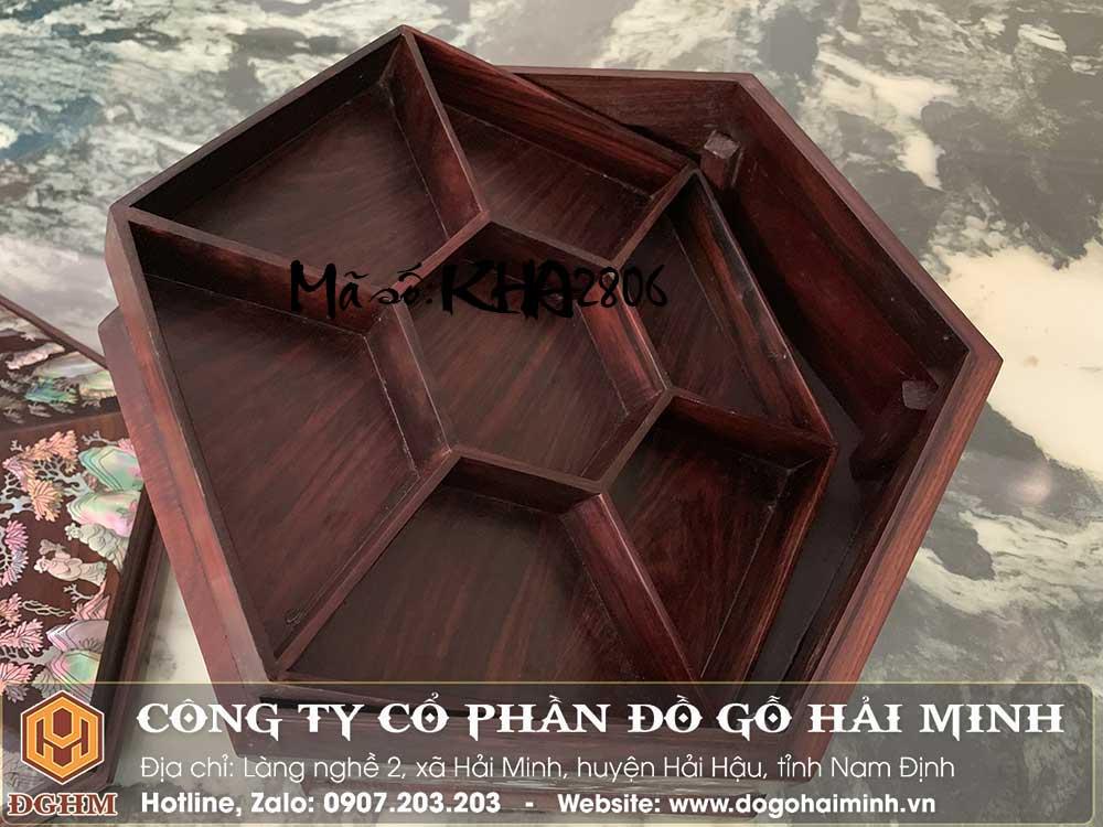 hộp gỗ trắc khảm ốc
