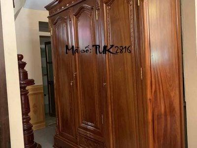 tủ áo 3 buồng gỗ hương