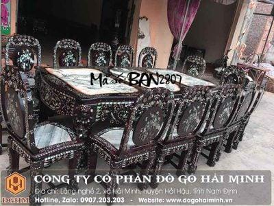 bộ bàn ăn 14 ghế khảm ốc