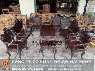 bộ bàn ghế louis 09 món đẹp