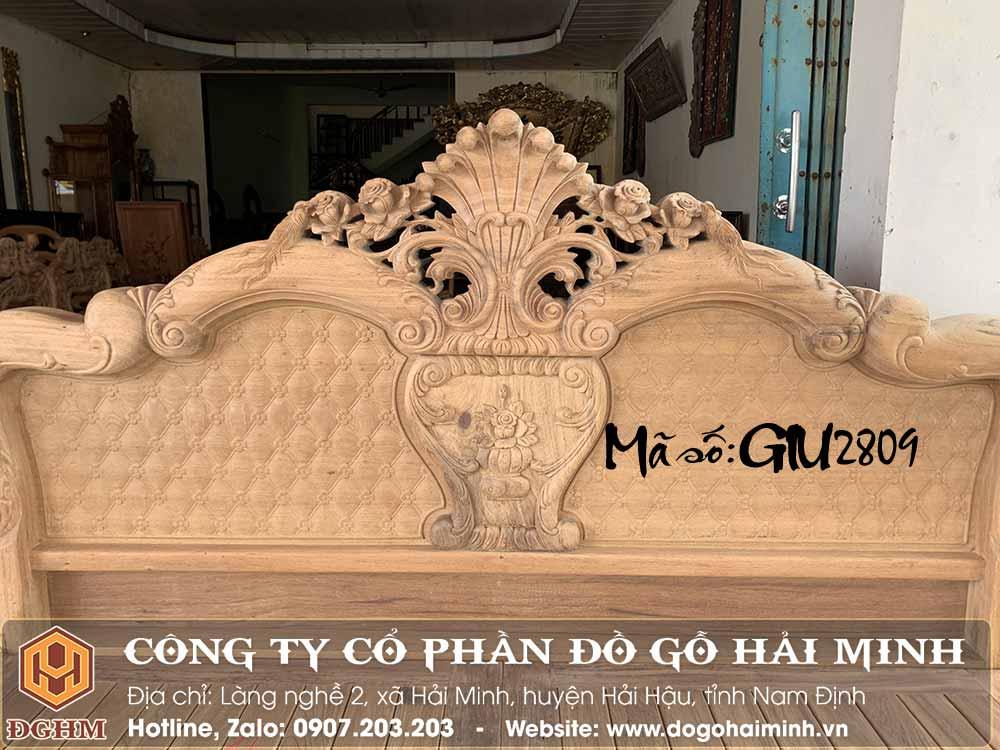 giường hoa hồng mẫu vòm gỗ gụ