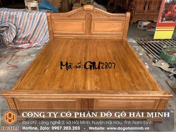 giường vòm gỗ gõ đỏ nam phi