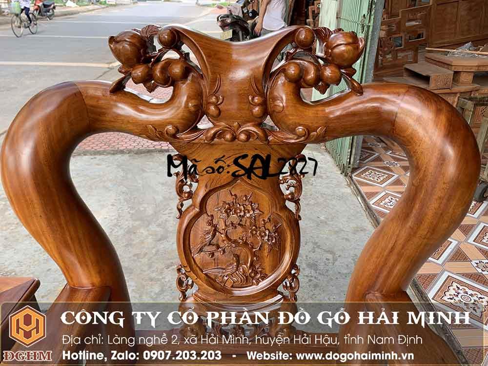 bộ minh đào tay 12 gỗ gụ đục đẹp