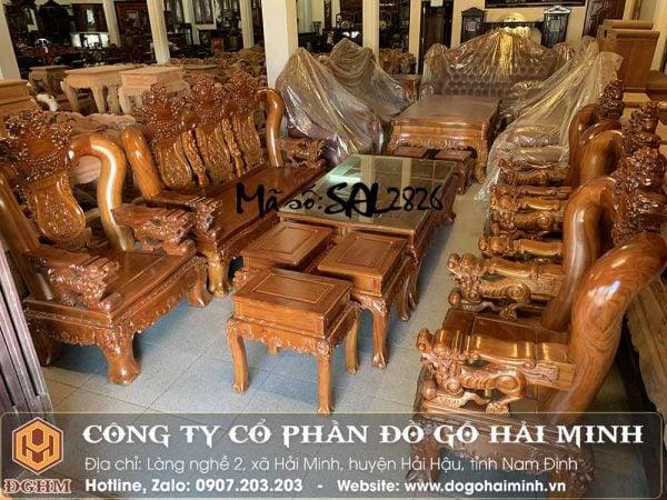 bộ ghế nghê đỉnh gỗ cẩm