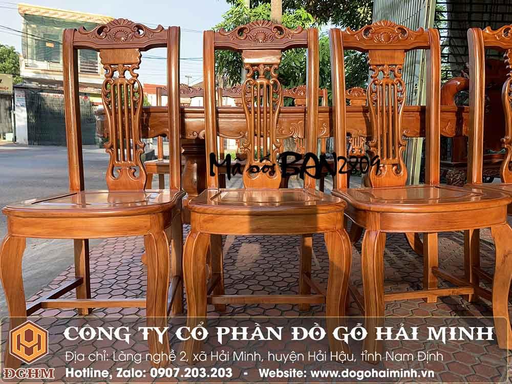 ghế ăn gỗ gõ đỏ đẹp giá rẻ