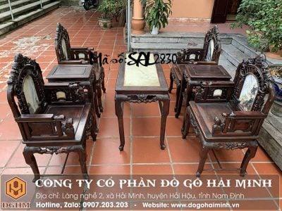 bộ ghế cổng thành gỗ trắc
