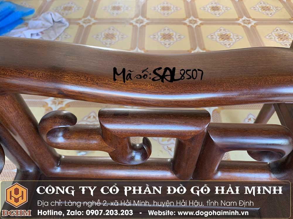 bàn ghế móc tàu mộng thủng