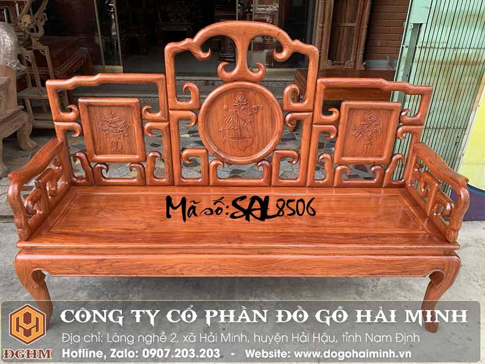 ghế dài móc mỏ gỗ hương