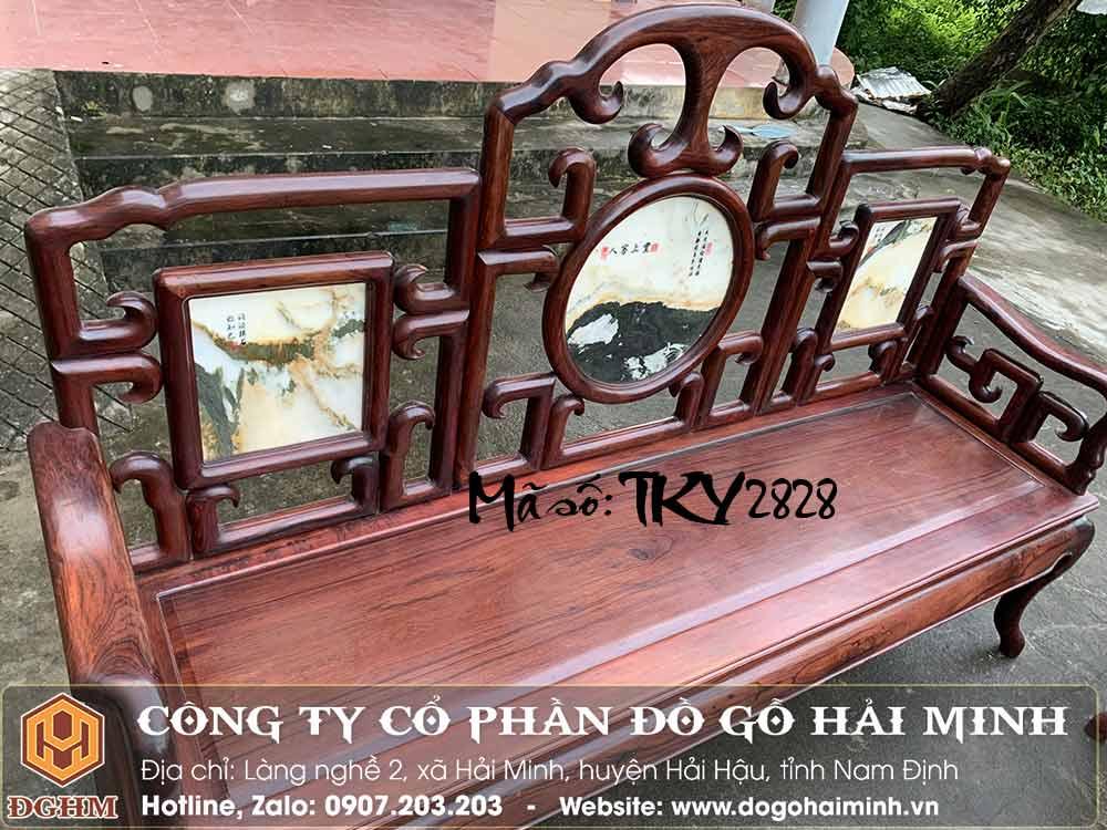 ghế trường kỷ móc gỗ cẩm