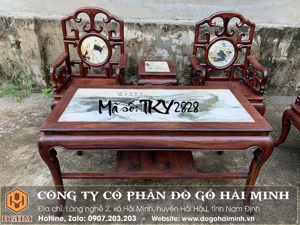 bàn ghế trường kỷ móc gỗ cẩm
