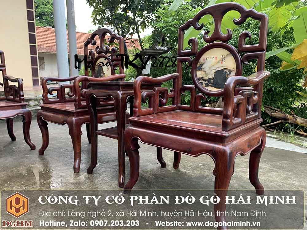 giá bộ trường kỷ móc gỗ cẩm