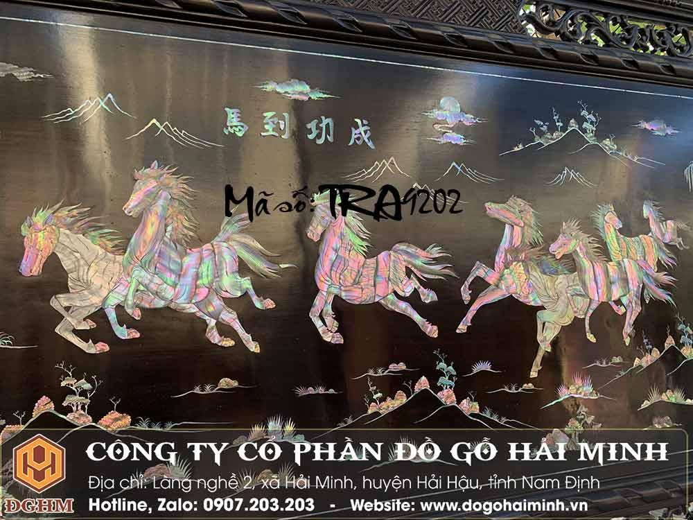 tranh khảm con ngựa