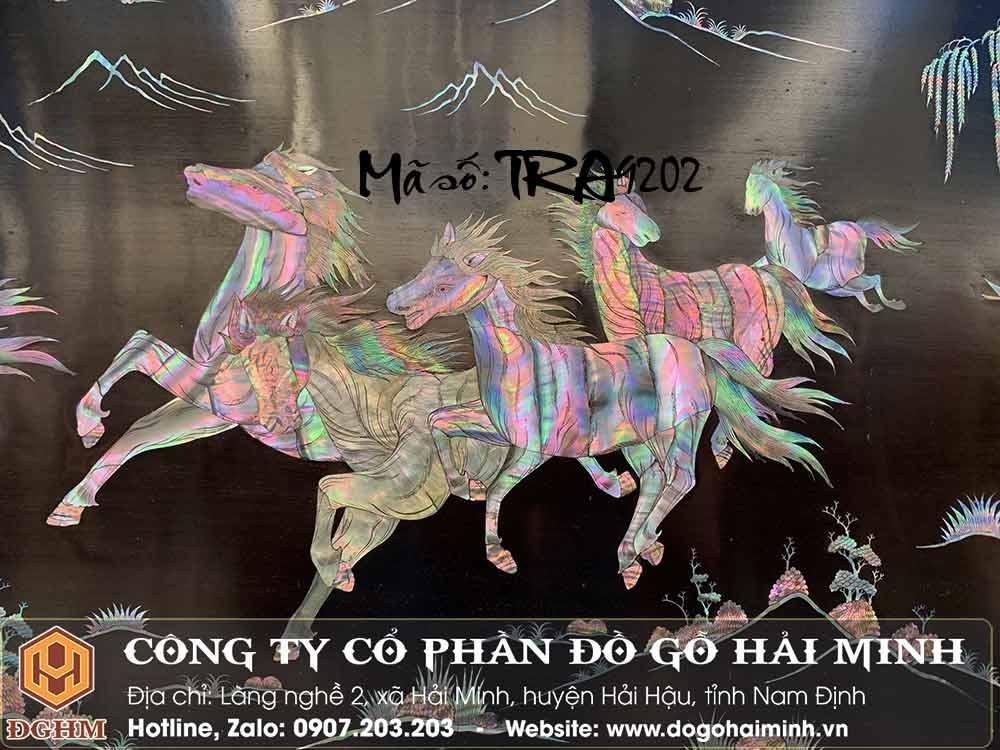 tranh khảm 8 con ngựa