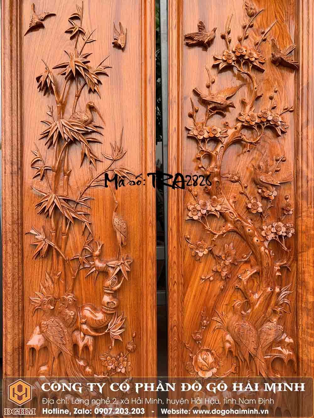 giá tranh tứ quý gỗ hương