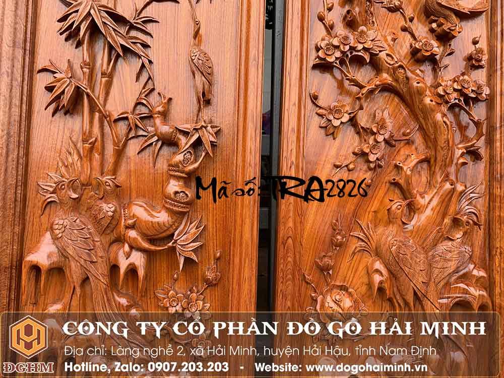 kích thước tranh tứ quý gỗ hương