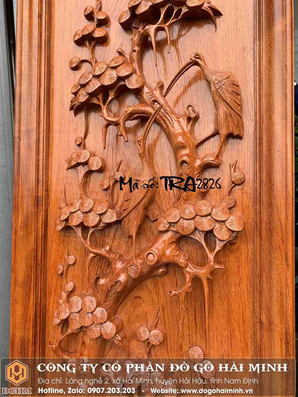 tranh gỗ hương đục tùng