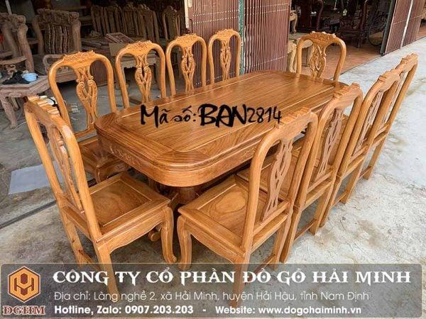 bàn ghế ăn 10 ghế gỗ gỗ đỏ