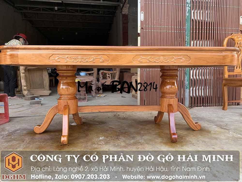 bàn ăn gỗ gõ đỏ dài 1m8
