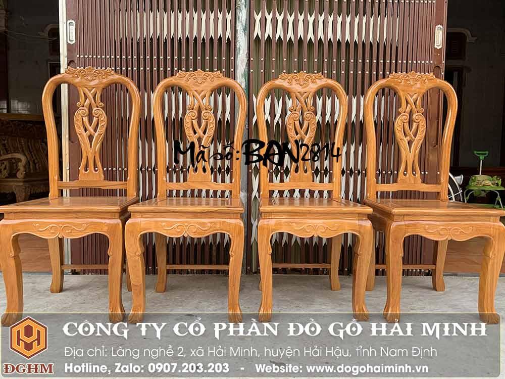 ghế ăn gỗ gõ đỏ đẹp