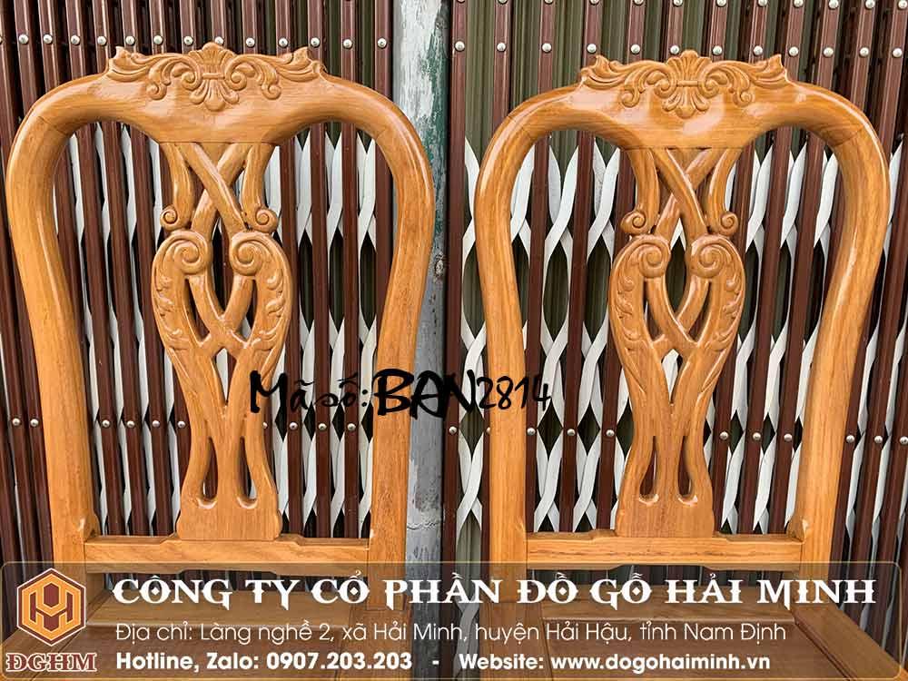 mẫu ghế ăn gỗ gõ đỏ đẹp giá rẻ