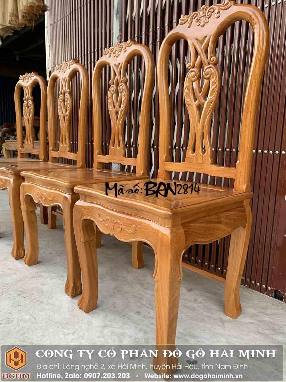 ghế ăn gỗ gõ