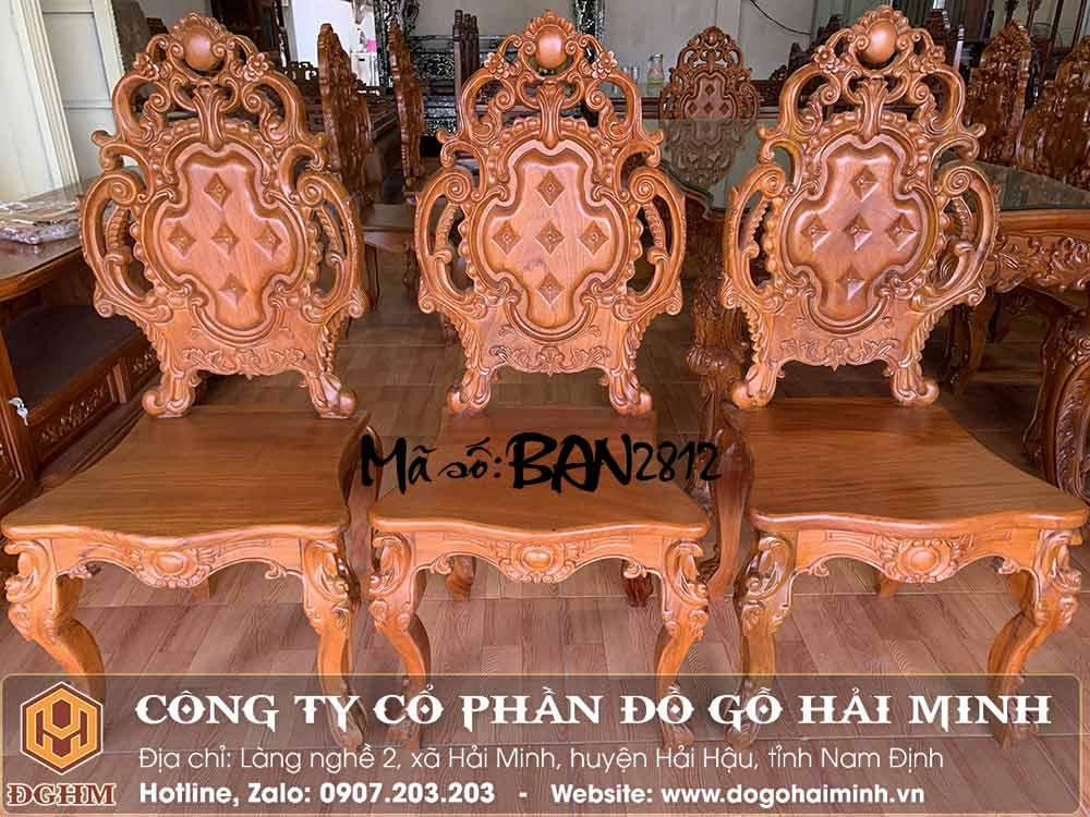 ghế ăn tân cổ điển gỗ gõ