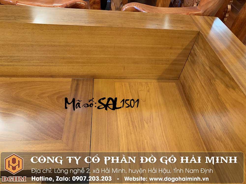 ghế sofa chữ L gỗ tự nhiên