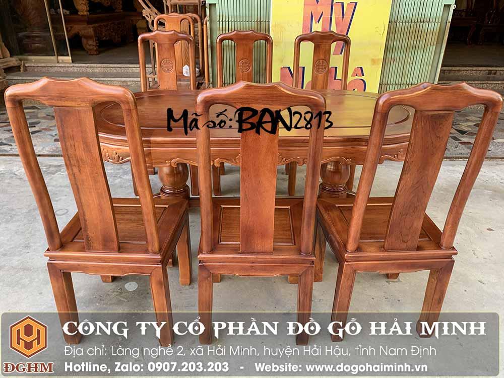 bàn ghế ăn chữ thọ gỗ gụ giá rẻ