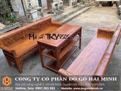 bộ bàn ghế trường kỷ gỗ hương đá